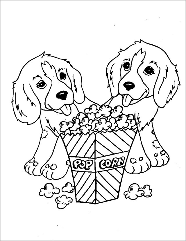Puppy Coloring Page for Kids - ColoringBay