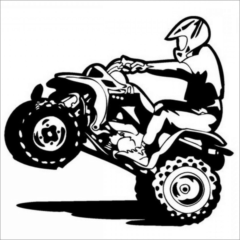 4 wheeler coloring pages  coloringbay