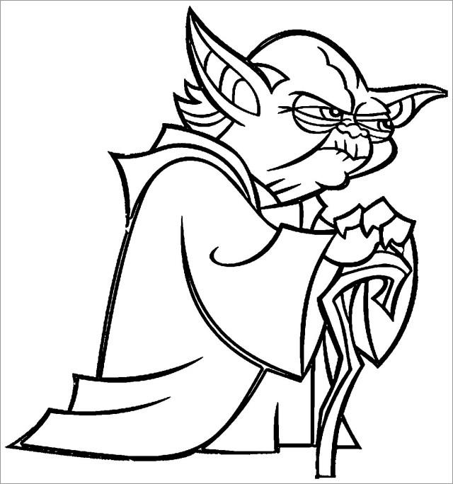 Star Wars Coloring Pages Yoda - ColoringBay