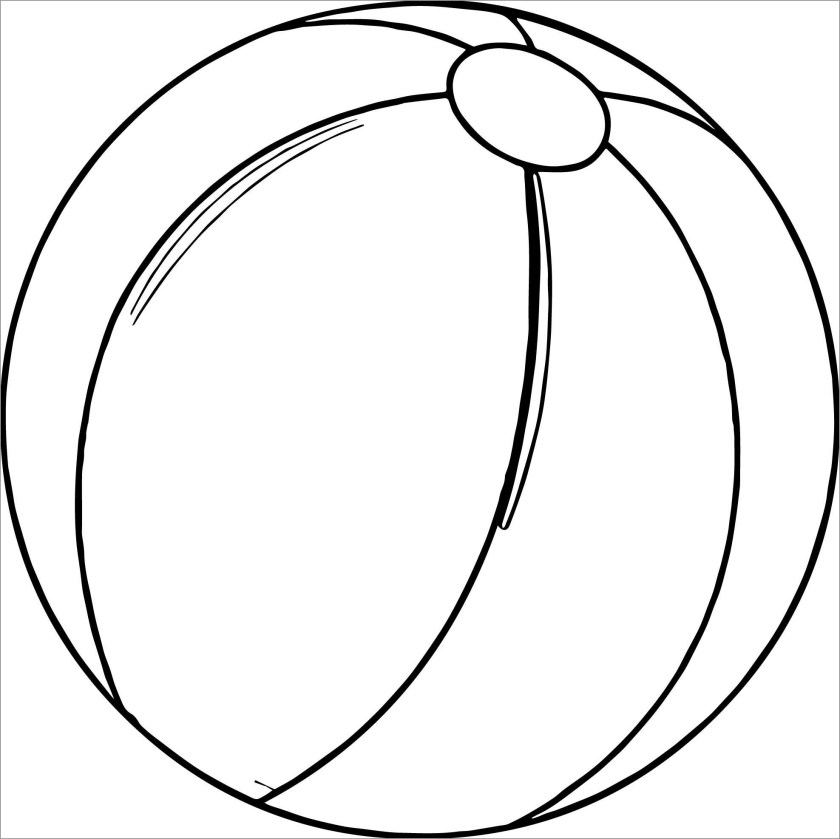 beach ball coloring pages  coloringbay