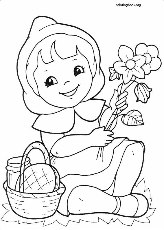 Little Red Riding Hood Coloring Page : little, riding, coloring, Little, Riding, Coloring, (006), ColoringBook.org