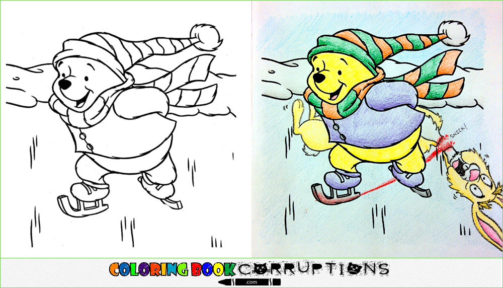 Ice skating coloring book corruptions Coloring book corruptions