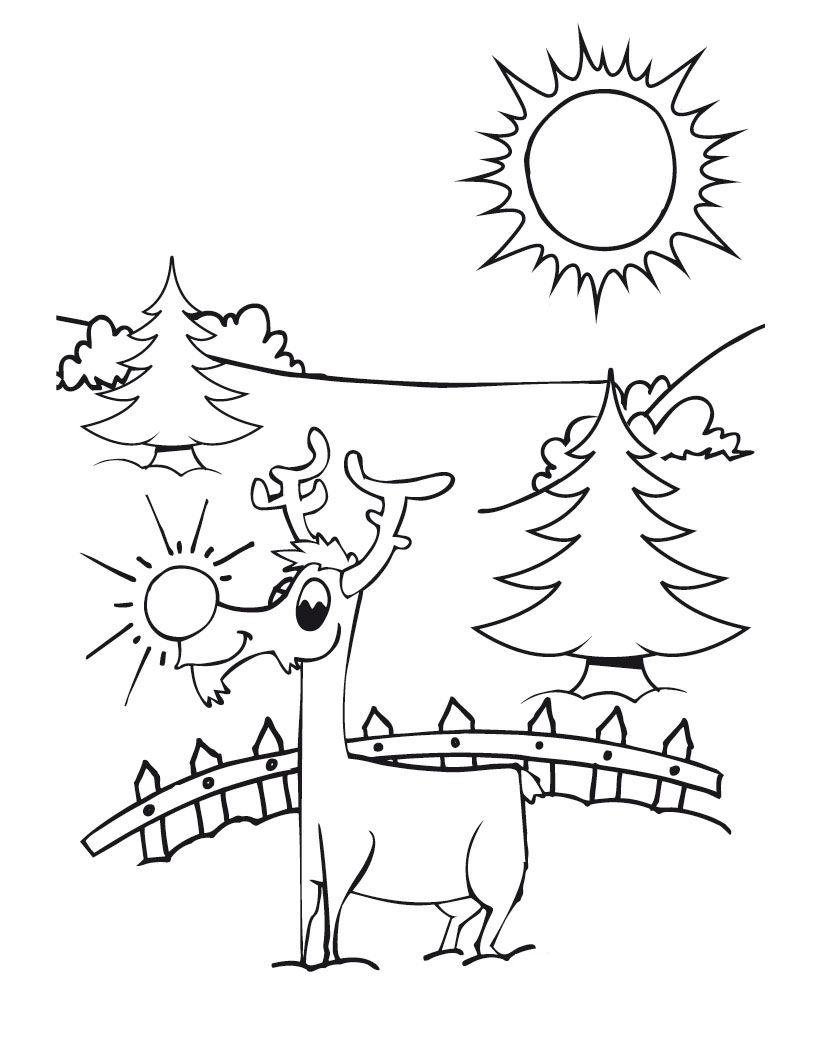 13 Best Christmas Reindeer Coloring Pages for Kids