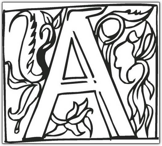 26 Best Alphabet Fancy Block Coloring Pages for Kids