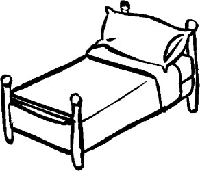 bed coloring bedroom pages furniture