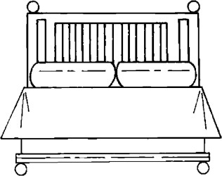 bed bedroom furniture coloring pages