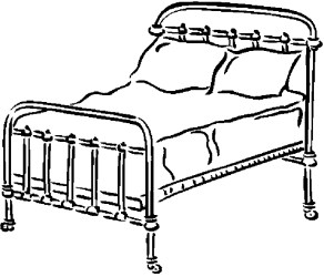 coloring bedroom bed furniture pages