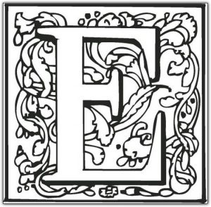 26 Best Alphabet Fancy Block Coloring Pages for Kids