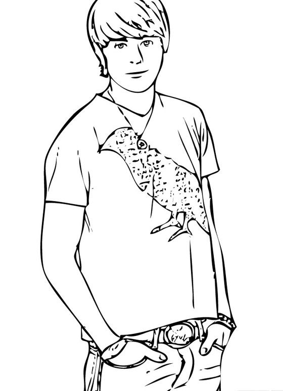 high school musical coloring pages # 19