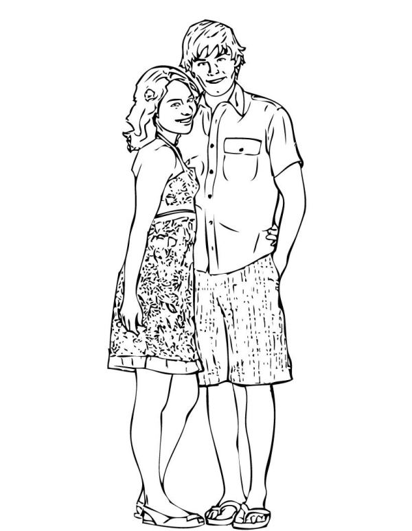 high school musical coloring pages # 3