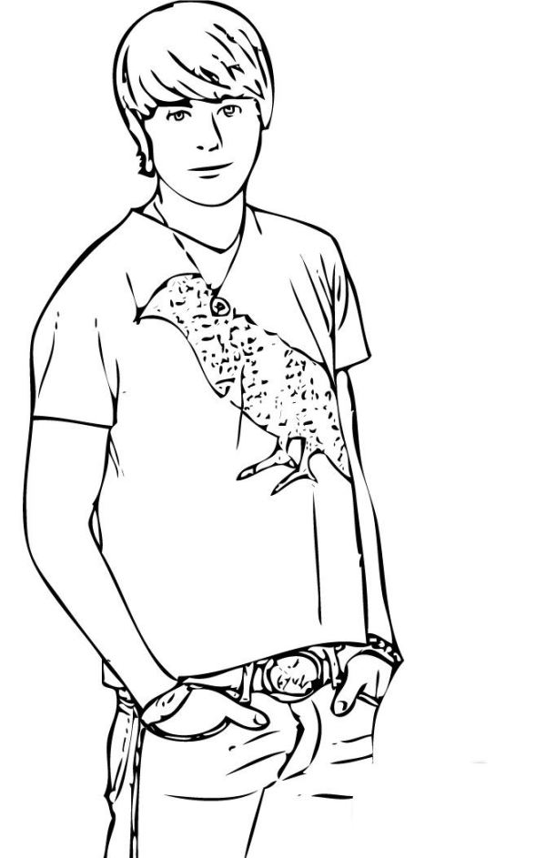 high school musical coloring pages # 7