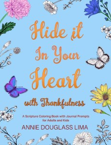 Annie's New Coloring Book, Hide it in Your Heart with Thankfulness