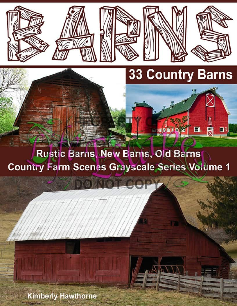 33 Country Barns Coloring Book For Adults Life Escapes