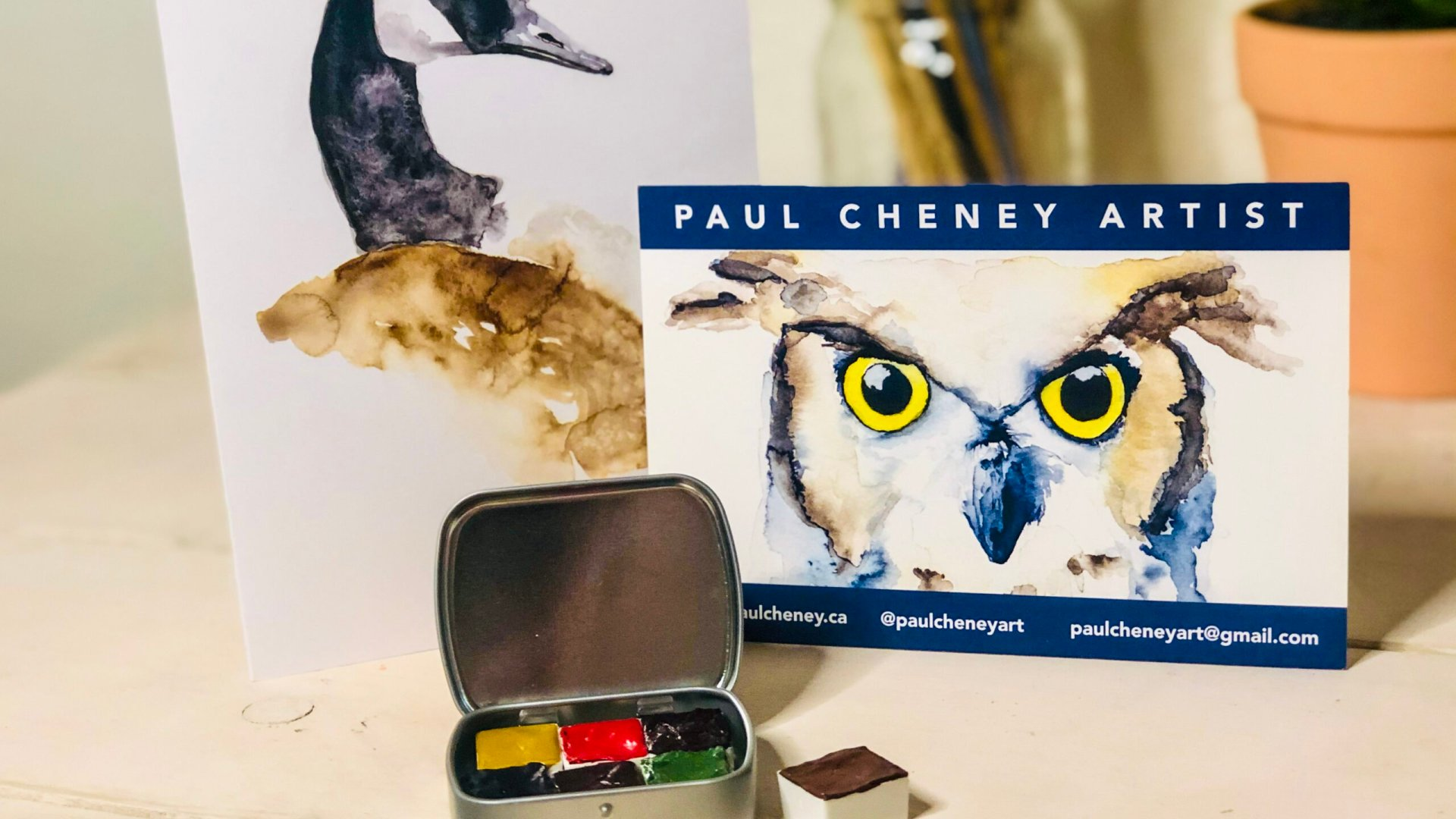 Paul Cheney Art Watercolor Palette and Custom Artwork