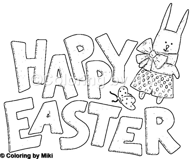 Happy Easter Coloring Page #133