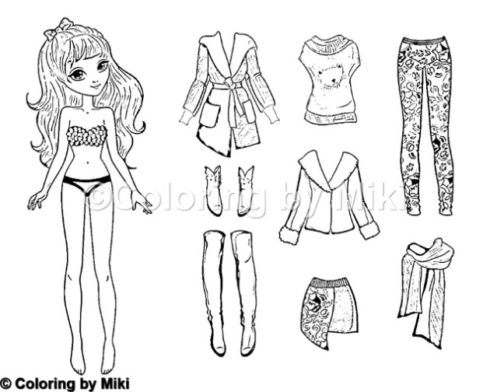 Dress-up Doll Coloring Page #231