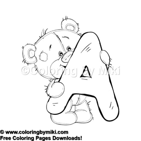 Teddy Bear Alphabets A Coloring Page #616