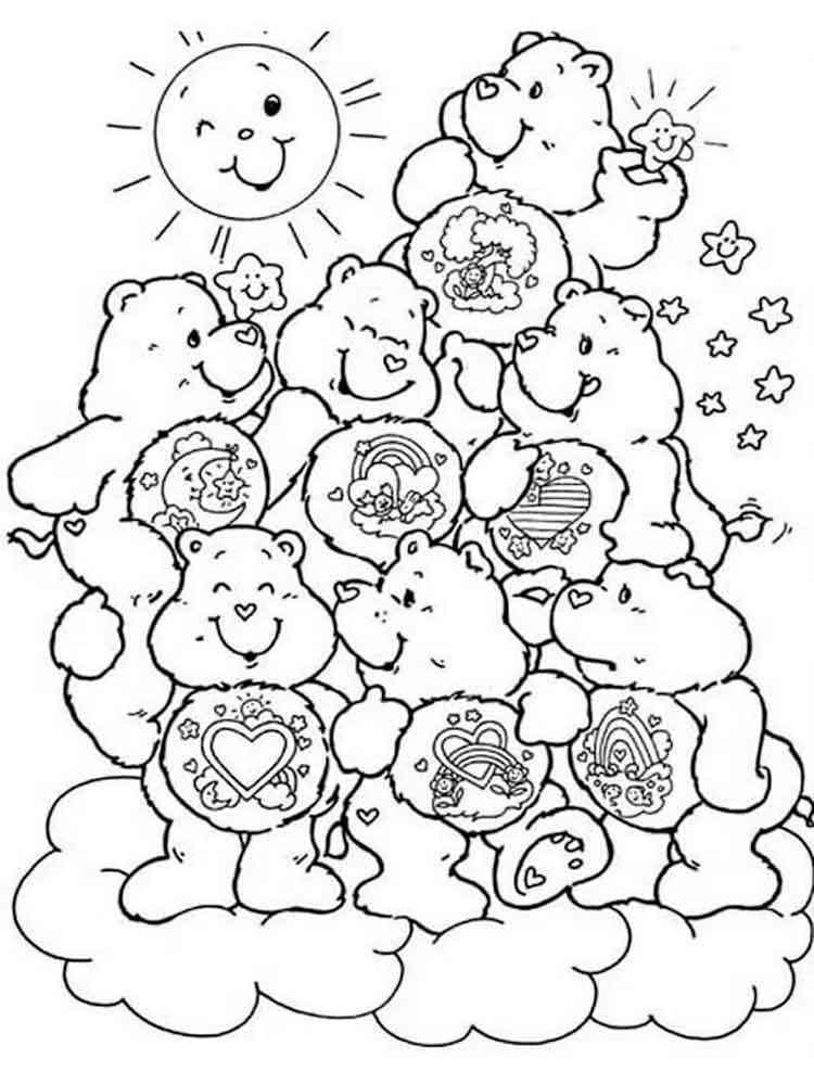 Ausmalbilder Pflege Bären - Malvorlagen Kostenlos zum