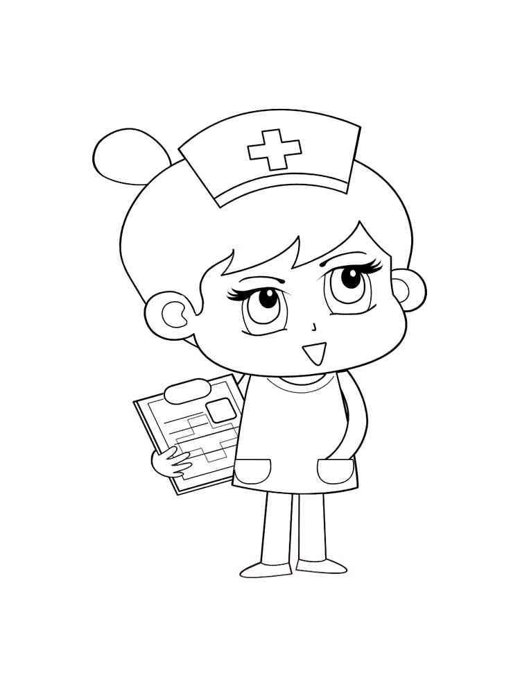 Ausmalbilder Krankenschwester - Malvorlagen Kostenlos zum