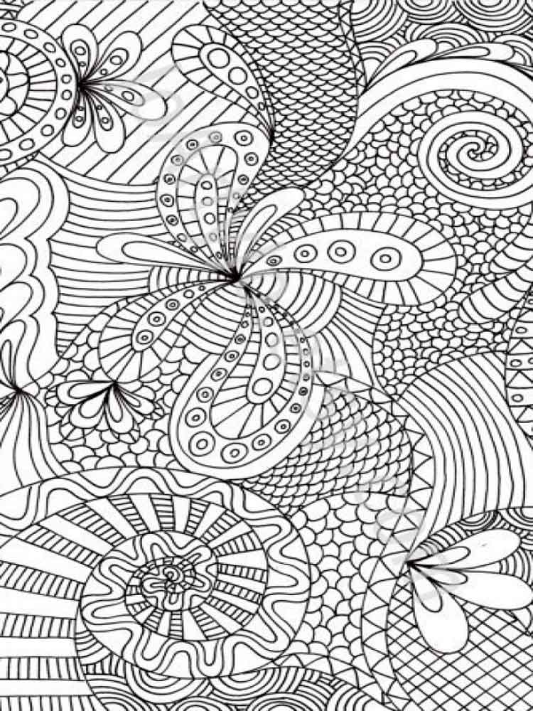 Free Adult Coloring Pages Printable Or Download Abstract Coloring Pages