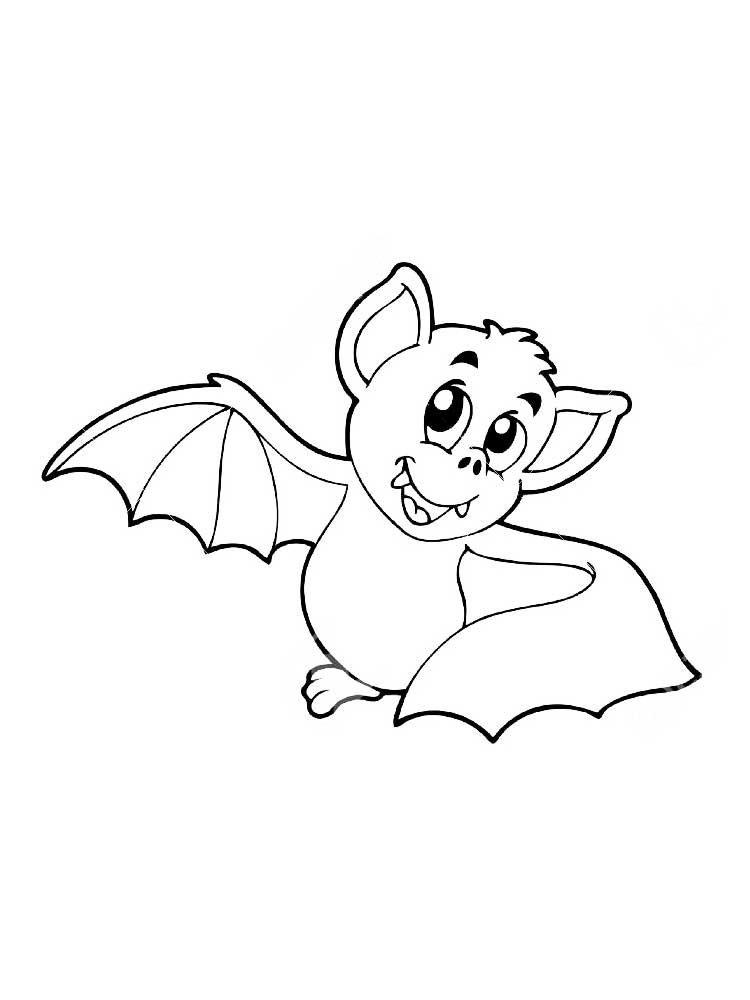 Ausmalbilder Fledermaus - Malvorlagen Kostenlos zum Ausdrucken
