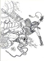 Coloriages Ghost Rider   Cavalier fantôme gratuits à ...
