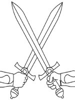 Ausmalbilder Schwert   Malvorlagen Kostenlos zum Ausdrucken