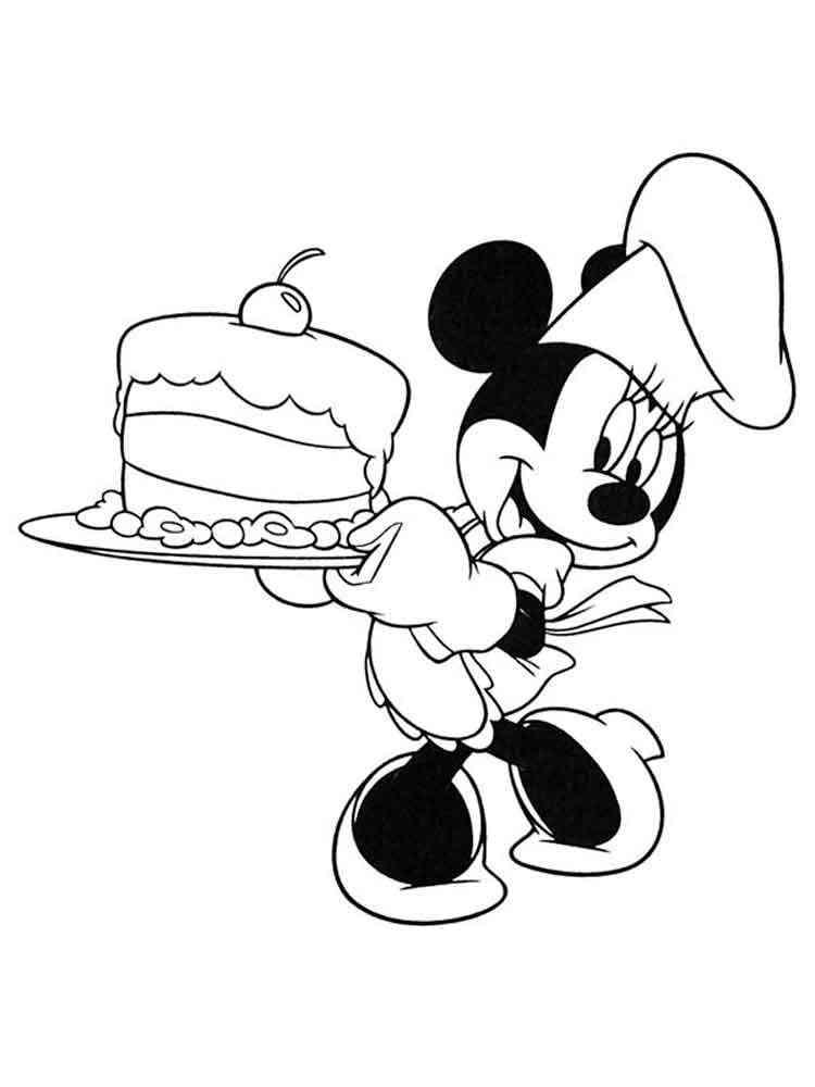 Ausmalbilder Mickey Mouse und Minnie Mouse - Malvorlagen