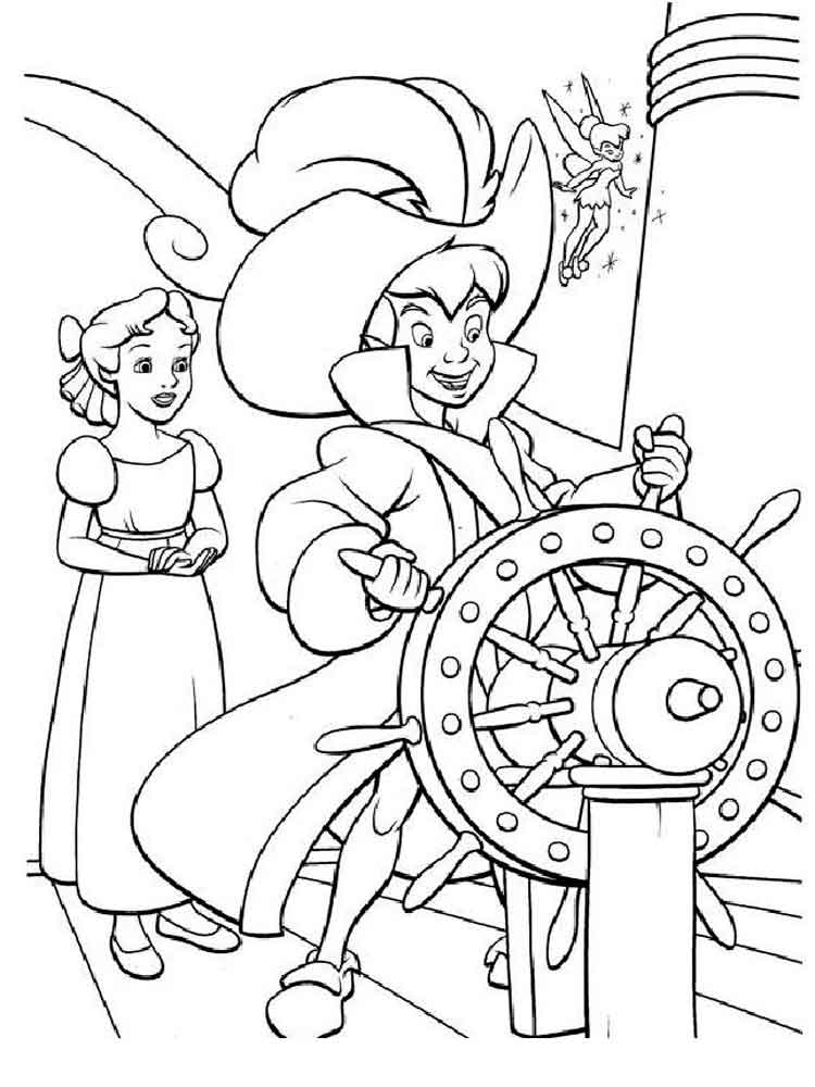 Peter Pan coloring pages for kids. Free printable Peter