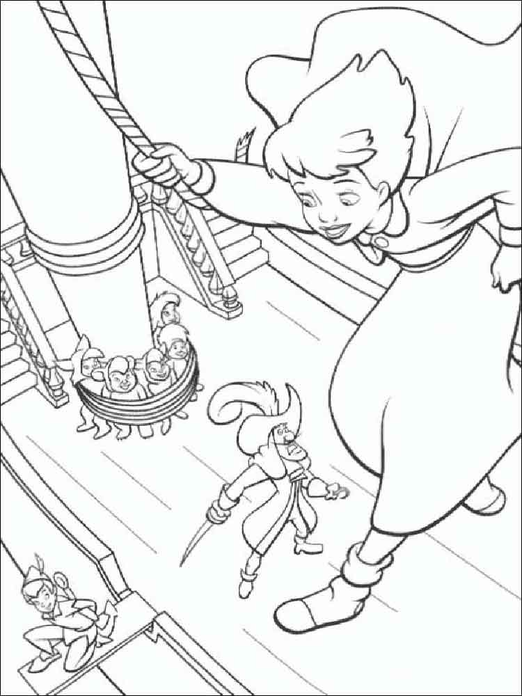 Peter Pan Coloring Pages For Kids Free Printable Peter Pan Coloring Pages