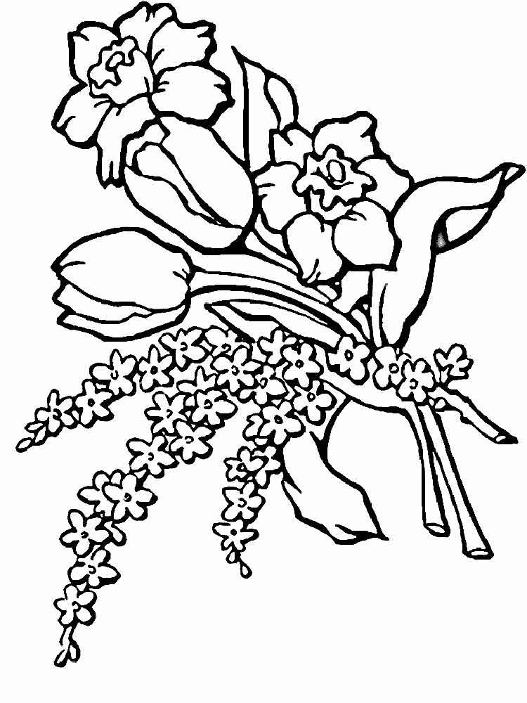 Ausmalbilder Blumenstrauß - Malvorlagen Kostenlos zum
