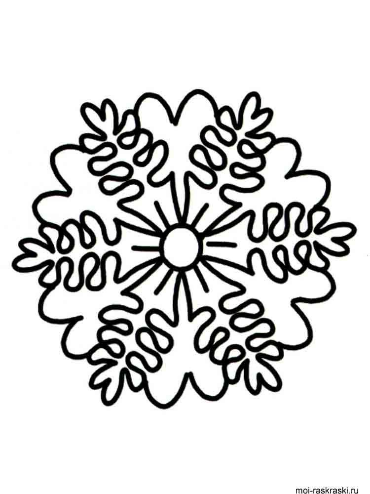 Malvorlagen Schneeflocken - Ausmalbilder Kostenlos zum