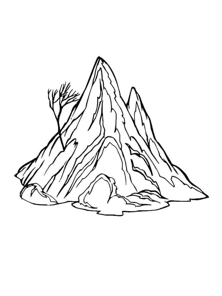 Malvorlagen Berge - Ausmalbilder Kostenlos zum Ausdrucken