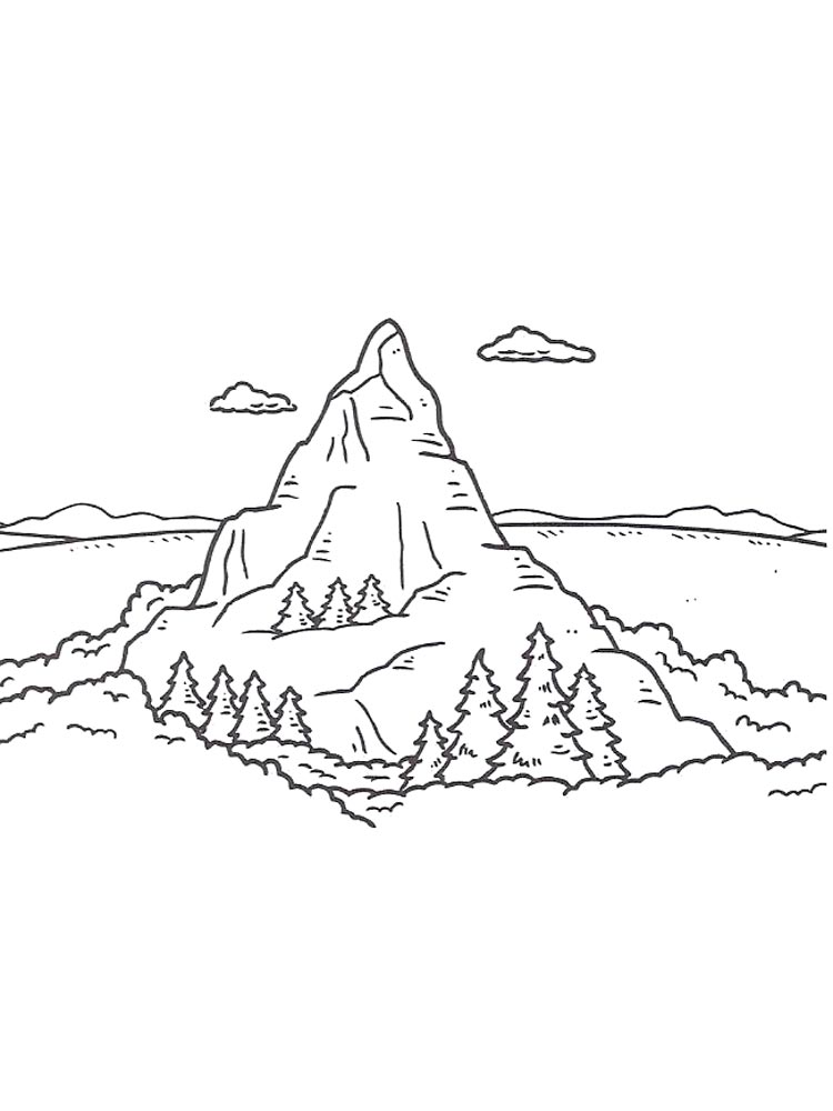 Berge Malvorlage