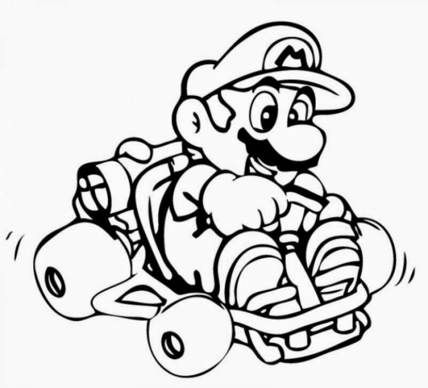 mario kart characters coloring pages  coloring home