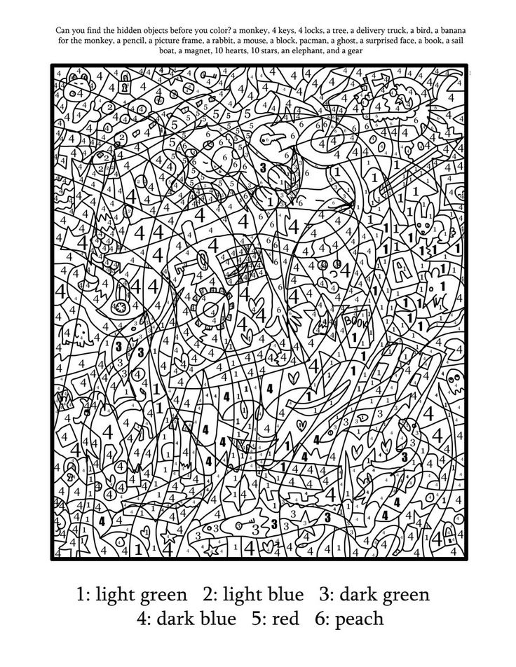 Free Printable Color By Number For Adults : printable, color, number, adults, Printable, Paint, Numbers, Adults, Coloring