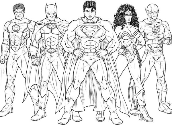 dc comics coloring pages # 17