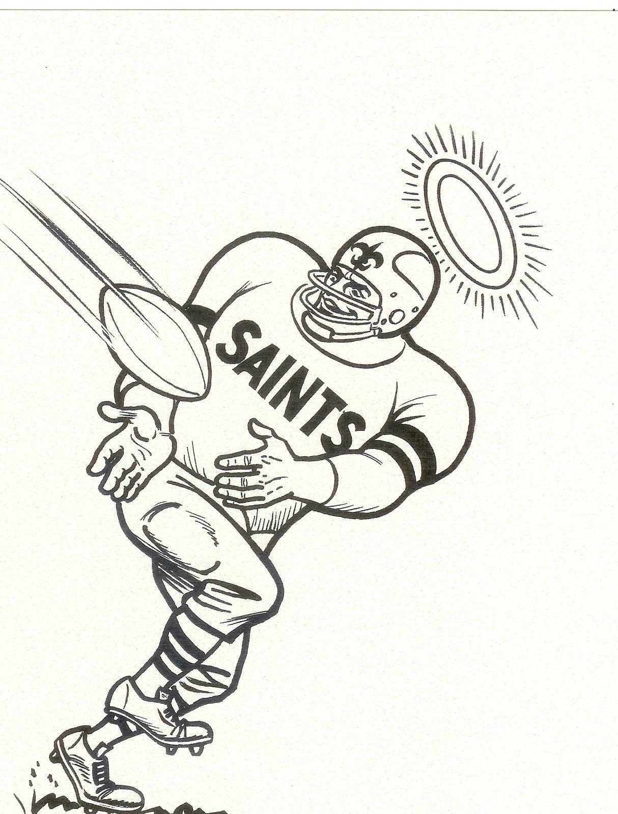 New Orleans Saints Coloring Page