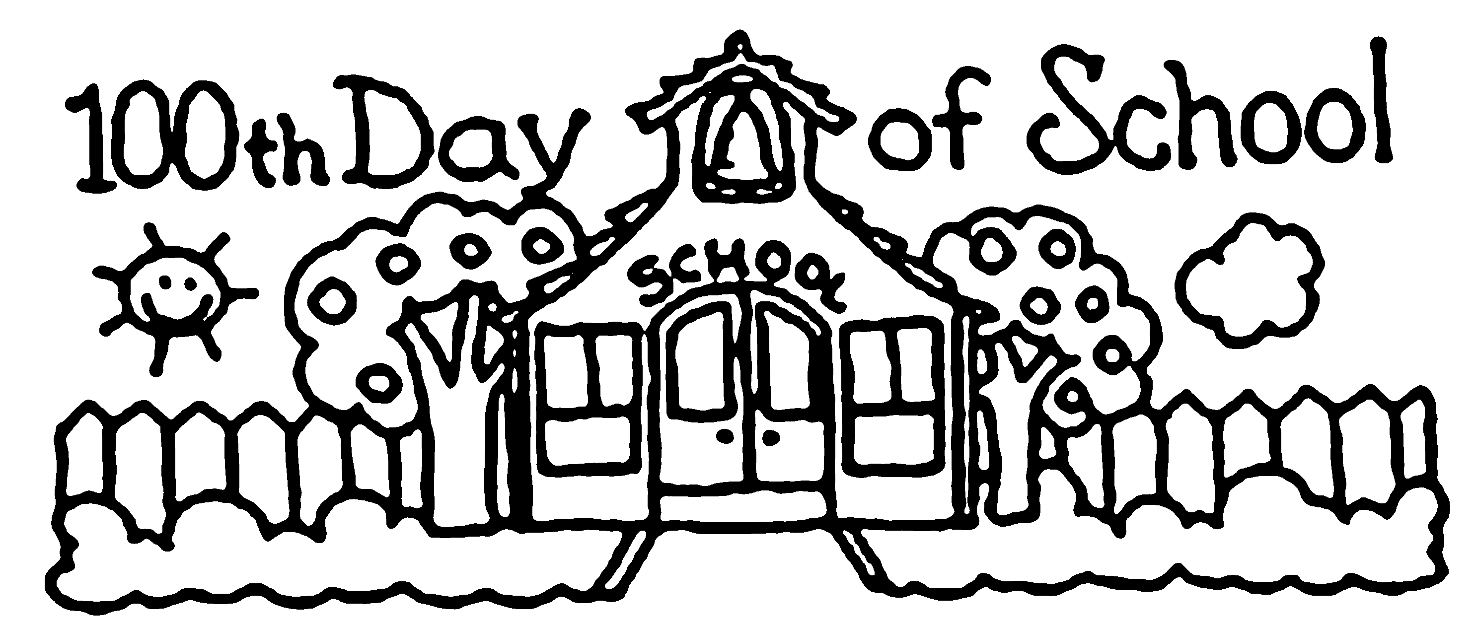 100th Day Of School Coloring Pages Free