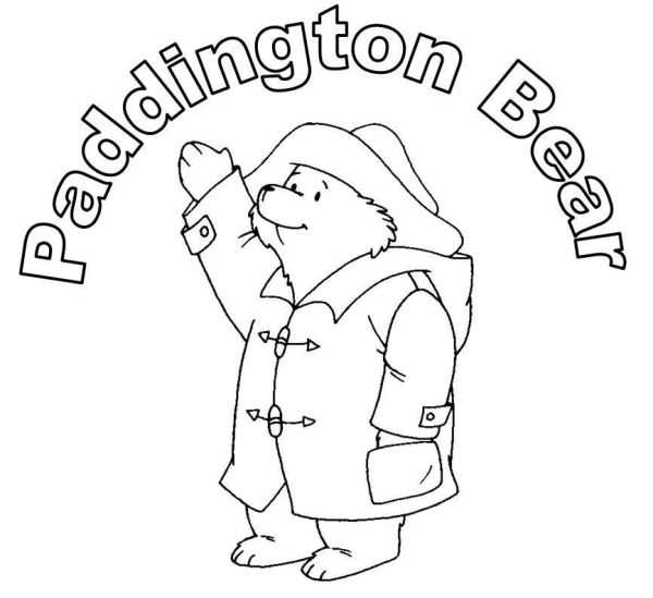 paddington bear coloring pages # 5