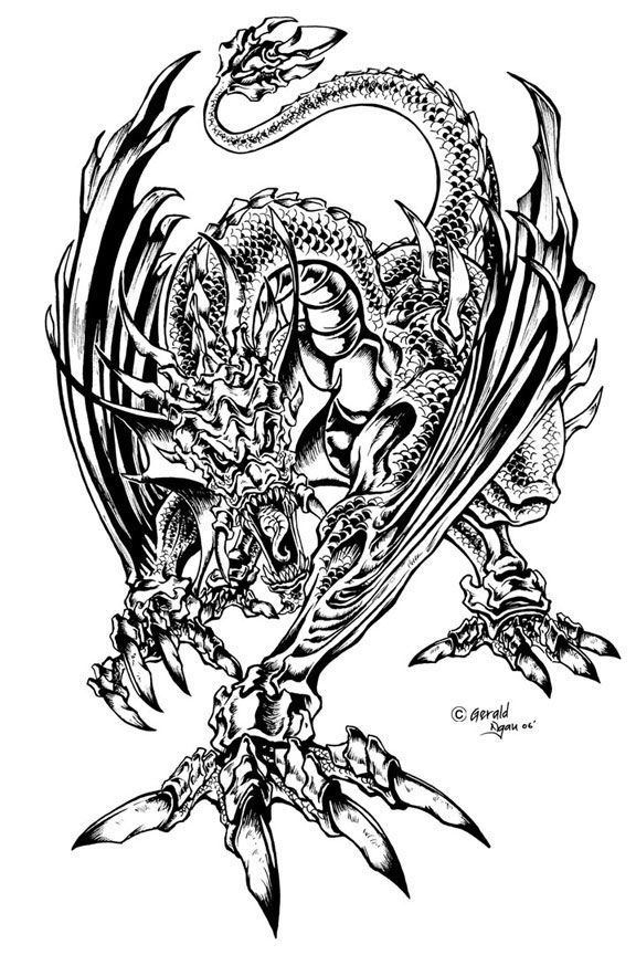 Free Cool Dragon Coloring Pages - Toyolaenergy