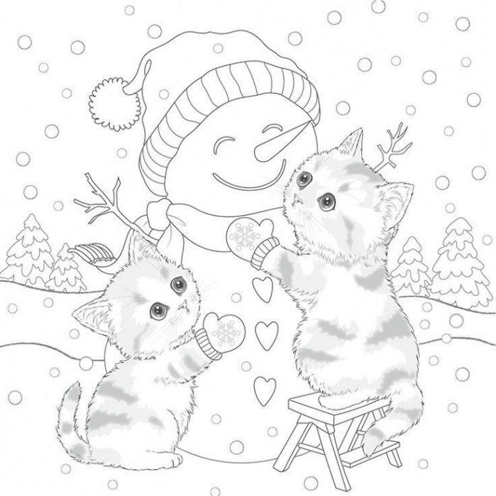 Preschool Kitten Coloring Pages Coloring Home