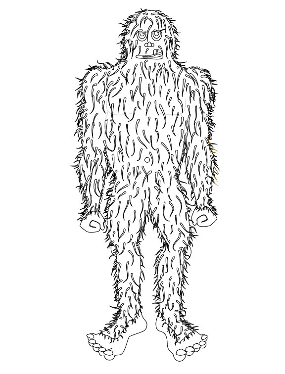 Sasquatch Coloring Pages Coloring Coloring Pages