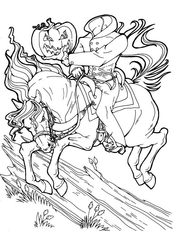 Headless Horseman Coloring Page : headless, horseman, coloring, Headless, Horseman, Coloring