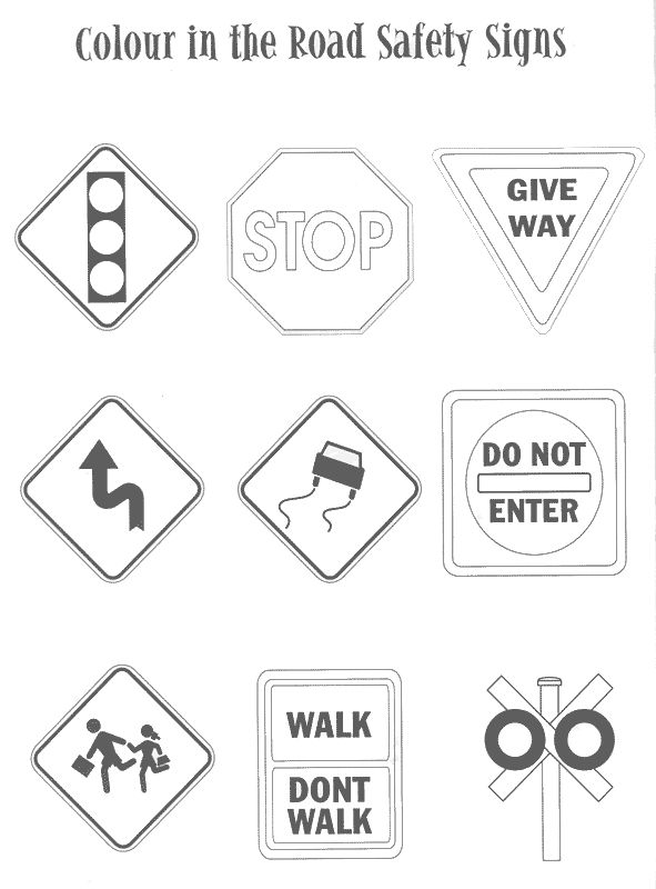 coloring pages traffic signs  coloring home