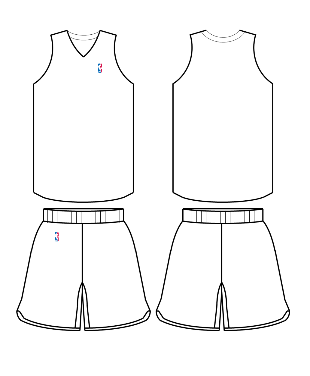 Blank Football Jersey Coloring Page