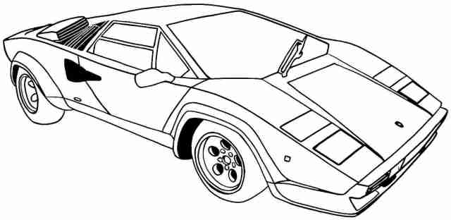 Sports Car Coloring Sheets To Print - High Quality Coloring Pages