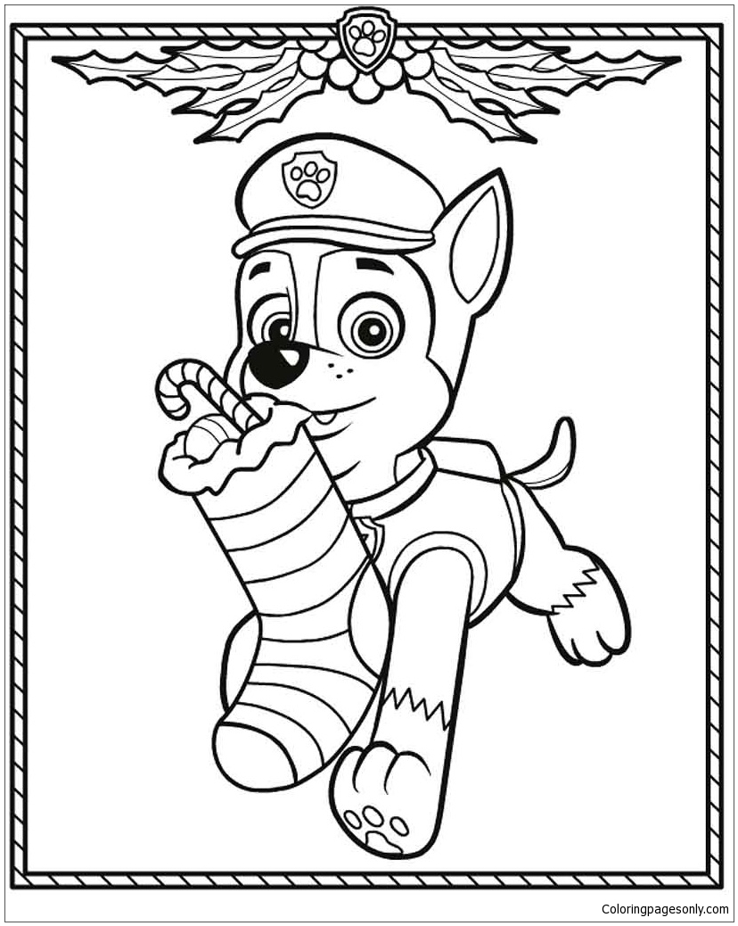 Christmas Paw Patrol Coloring Pages : christmas, patrol, coloring, pages, Patrol, Christmas, Coloring, Pages, Online