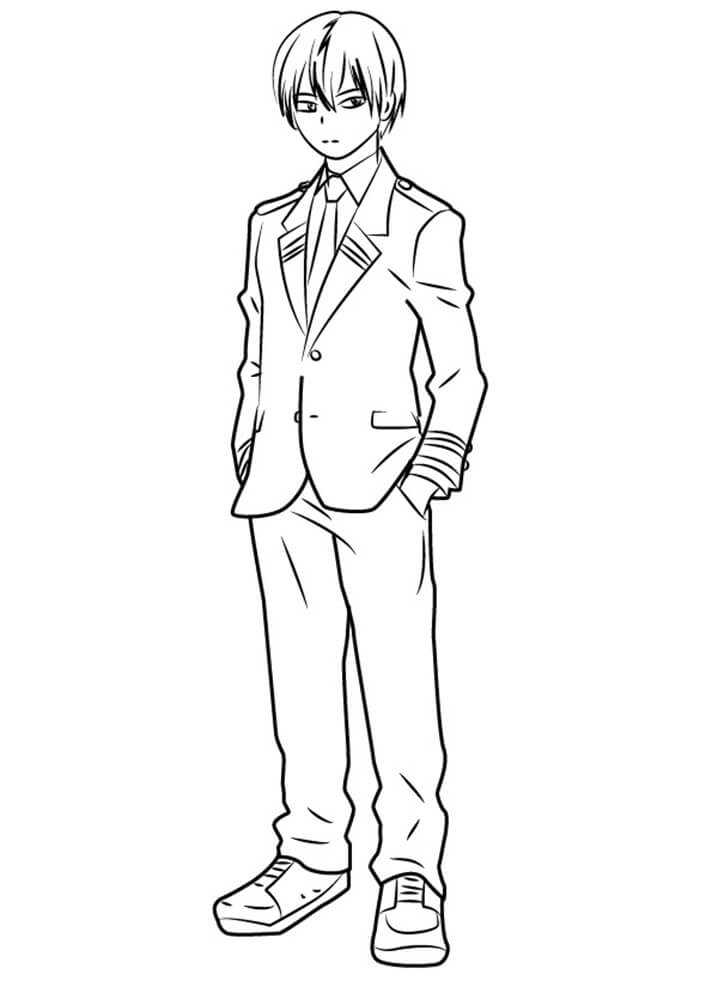 Mha Coloring Pages : coloring, pages, Todoroki, Academia, Coloring, Printable, Pages