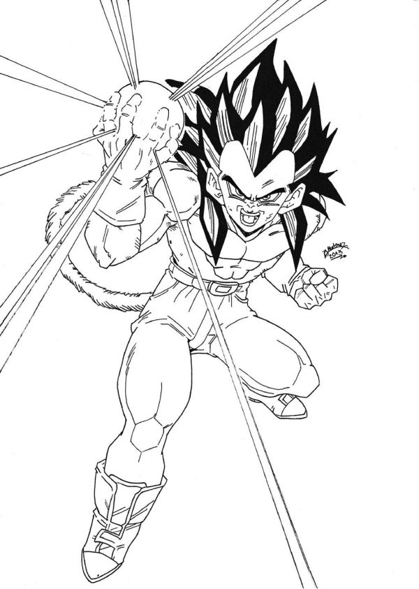 dragon ball gt coloring pages # 1